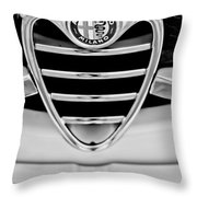 1962 Alfa Romeo Giulietta Coupe Sprint Speciale Grille Emblem Throw Pillow
