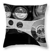 1962 Chevrolet Corvette Convertible Steering Wheel Throw Pillow