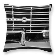 1962 Chevrolet Nova Grille Emblem Throw Pillow