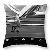 1962 Dodge Polara 500 Side Emblem Throw Pillow