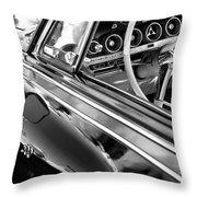 1962 Dodge Polara 500 Side Emblem - Steering Wheel Throw Pillow