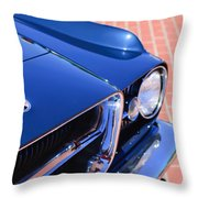 1962 Ghia L6.4 Coupe Grille Emblem Throw Pillow