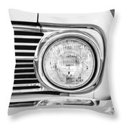 1963 Ford Falcon Futura Convertible Headlight - Hood Ornament Throw Pillow by Jill Reger