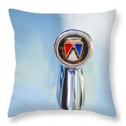 1963 Ford Falcon Futura Convertible  Hood Ornament Throw Pillow