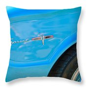 1963 Ford Falcon Sprint Side Emblem Throw Pillow by Jill Reger