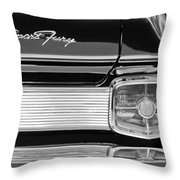 1963 Plymouth Sport Fury Taillight Emblem Throw Pillow