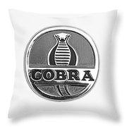 1963 Shelby 289 Cobra Emblem Throw Pillow