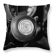 1964 Aston Martin Steering Wheel Emblem Throw Pillow