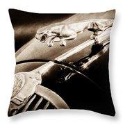 1964 Jaguar Mk2 Saloon Hood Ornament And Emblem Throw Pillow