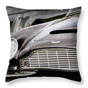 1965 Aston Martin Db6 Short Chassis Volante Grille Throw Pillow