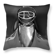 1965 Buick Riviera Hood Ornament Throw Pillow