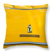 1965 Ferrari 275gts Emblem Throw Pillow