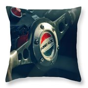 1965 Ford Gt 40 Steering Wheel Emblem Throw Pillow