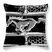 1965 Ford Shelby Mustang Grille Emblem Throw Pillow