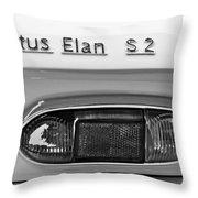 1965 Lotus Elan S2 Taillight Emblem Throw Pillow by Jill Reger
