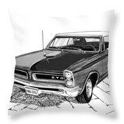 1965 Pontiac G T O Convertible Throw Pillow
