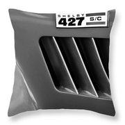1965 Shelby Cobra 427 Emblem Throw Pillow