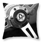 1965 Shelby Cobra 427 Steering Wheel Emblem Throw Pillow