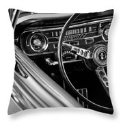 1965 Shelby Prototype Ford Mustang Steering Wheel Throw Pillow