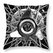 1966 Ferrari 330 Gtc Coupe Wheel Rim Emblem Throw Pillow