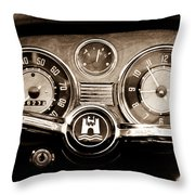 1966 Volkswagen Vw Karmann Ghia Steering Wheel Throw Pillow