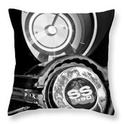 1967 Chevrolet Camaro  Ss Steering Wheel Emblem Emblem Throw Pillow
