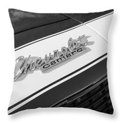 1967 Chevrolet Camaro Ss350 Convertible Emblem Throw Pillow
