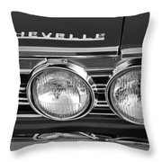 1967 Chevrolet Chevelle Super Sport Emblem Throw Pillow