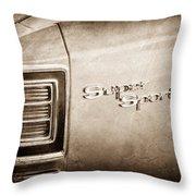 1967 Chevrolet Chevelle Super Sport Taillight Emblem Throw Pillow