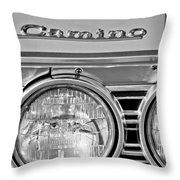 1967 Chevrolet El Camino Pickup Truck Headlight Emblem Throw Pillow