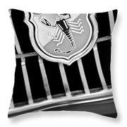 1967 Fiat Abarth 1000 Otr Emblem Throw Pillow