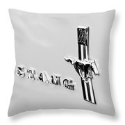 1967 Ford Mustang Side Emblem Throw Pillow
