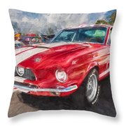 1967 Ford Shelby Mustang Gt500 Painted  Throw Pillow