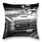 1967 Pontiac Gto Bw Throw Pillow