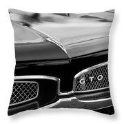 1967 Pontiac Gto Grille Emblem Throw Pillow