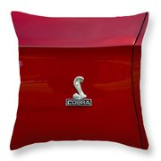 1968 Shelby Gt350 Side Emblem Throw Pillow