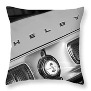 1968 Shelby Gt500 Kr Fastback Rear Emblem - Taillights Throw Pillow