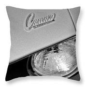 1969 Chevrolet Camaro Headlight Emblem Throw Pillow