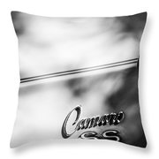 1969 Chevrolet Camaro Rs-ss Indy Pace Car Replica Side Emblem Throw Pillow
