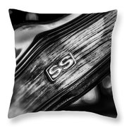 1969 Chevrolet Camaro Rs-ss Indy Pace Car Replica Steering Wheel Emblem Throw Pillow