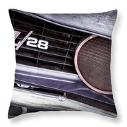 1969 Chevrolet Camaro Z28 Grille Emblem Throw Pillow