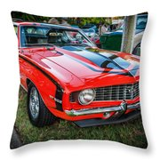 1969 Chevy Camaro Ss 396 Painted  Throw Pillow