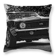 1969 Chevy Camaro Ss Throw Pillow