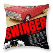 1969 Dodge Dart Swinger 340 Throw Pillow