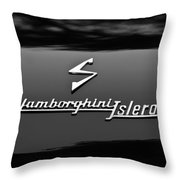 1969 Lamborghini Islero Emblem Throw Pillow