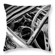1969 Lamborghini Islero Steering Wheel Emblem Throw Pillow