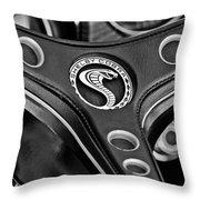 1969 Shelby Gt500 Convertible 428 Cobra Jet Steering Wheel Emblem Throw Pillow