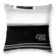 1970 Buick Gs Grille Emblem Throw Pillow