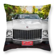 1970 Cadillac Coupe Deville Convertible Painted  Throw Pillow