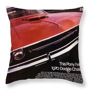 1970 Dodge Challenger R/t  Throw Pillow
